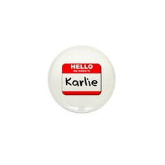 Hello my name is Karlie Mini Button (10 pack)