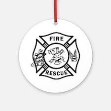 Fire Rescue Ornament (Round)