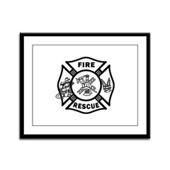 Fire Rescue Framed Panel Print