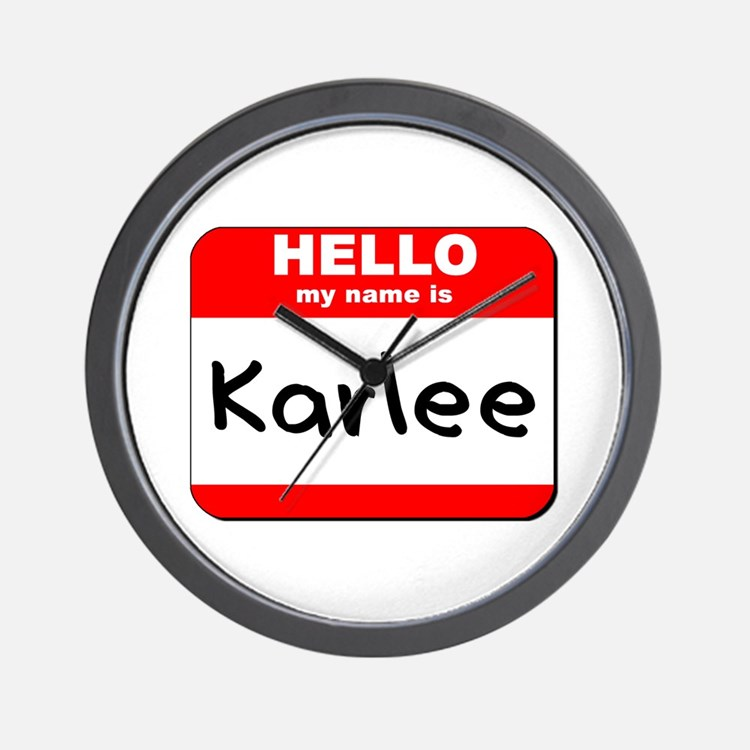 Hello my name is Karlee Wall Clock