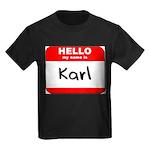 Hello my name is Karl Kids Dark T-Shirt