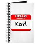 Hello my name is Karl Journal
