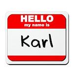 Hello my name is Karl Mousepad