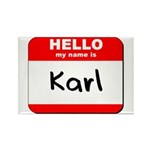 Hello my name is Karl Rectangle Magnet (10 pack)