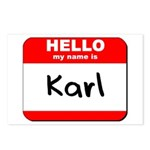 Hello my name is Karl Postcards (Package of 8)
