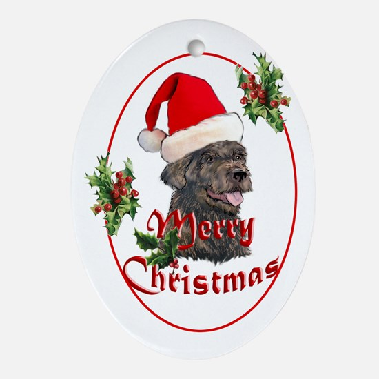 Labradoodle Christmas Oval Ornament