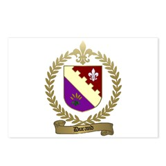 DURAND Family Crest Postcards (Package of 8)