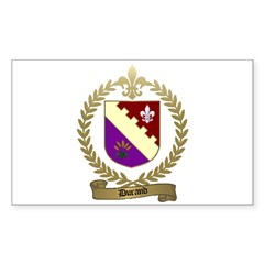 DURAND Family Crest Rectangle Decal