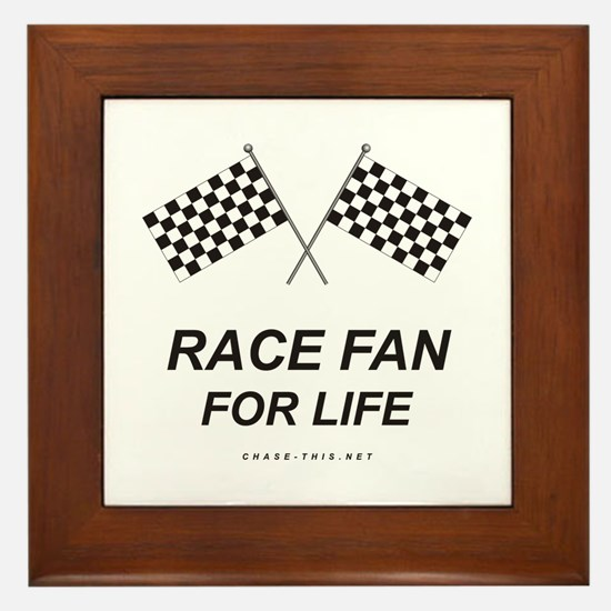 Checker Flag Race Life Framed Tile