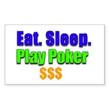 Play Poker Rectangle Decal