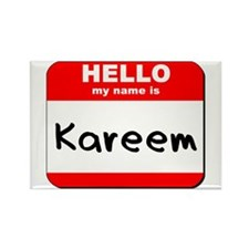 Hello my name is Kareem Rectangle Magnet