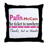 Ticket to Nowhere Throw Pillow