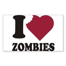 Zombies Rectangle Sticker 10 pk)
