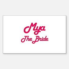 Mya - The Bride Rectangle Decal