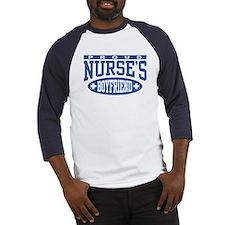 Proud Nurse's Boyfriend Baseball Jersey