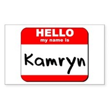 Hello my name is Kamryn Rectangle Decal
