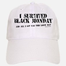 Black Monday Baseball Baseball Cap