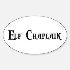Elf Chaplain Oval Decal
