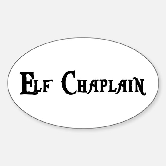 Elf Chaplain Oval Decal