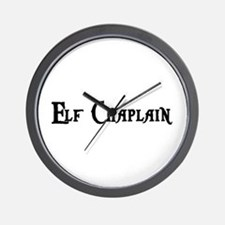 Elf Chaplain Wall Clock