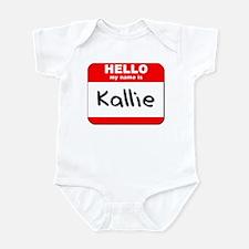 Hello my name is Kallie Infant Bodysuit