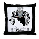 Migliore Family Crest Throw Pillow