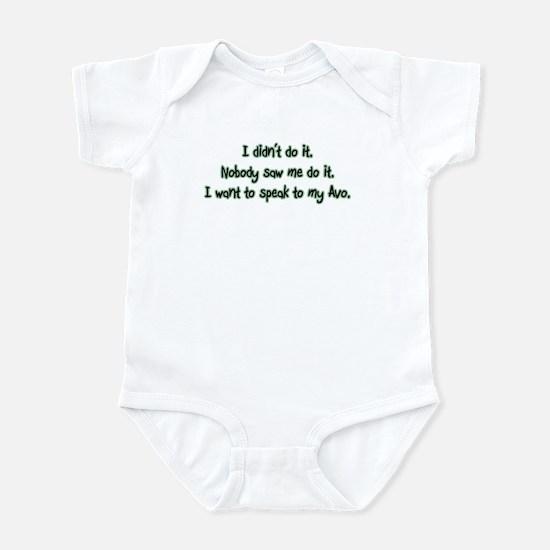 Want to Speak to Avo Infant Bodysuit