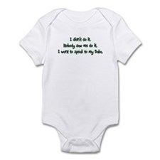 Want to Speak to Baba Infant Bodysuit