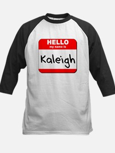 Hello my name is Kaleigh Kids Baseball Jersey