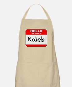 Hello my name is Kaleb BBQ Apron