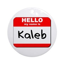 Hello my name is Kaleb Ornament (Round)