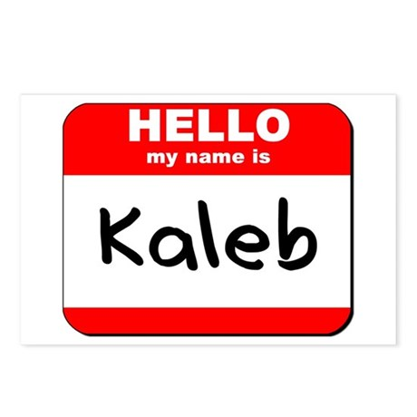 Hello my name is Kaleb Postcards (Package of 8)