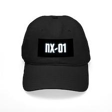 NX-01 Baseball Cap - White txt/Sci-Med blue highlight