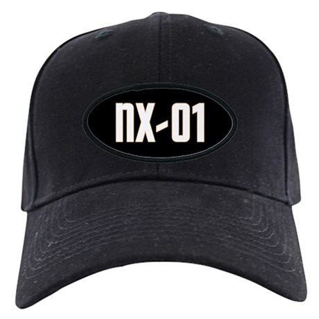 NX-01 Black Cap - White text/Gold highlights