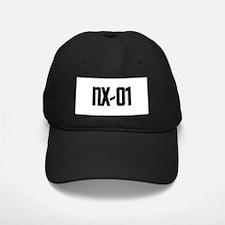 NX-01 Baseball Hat - Black text on white