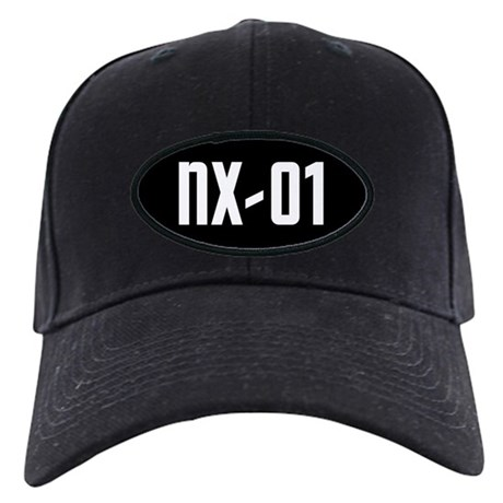 NX-01 Black Cap - white text on black