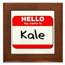 Hello my name is Kale Framed Tile