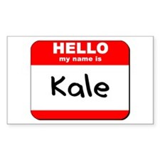 Hello my name is Kale Rectangle Decal