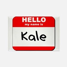 Hello my name is Kale Rectangle Magnet