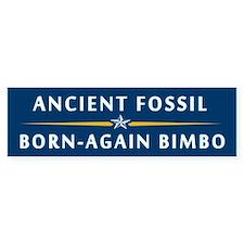 The Fossil and the Bimbo Bumper Bumper Sticker