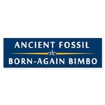The Fossil and the Bimbo Bumper Sticker