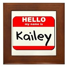 Hello my name is Kailey Framed Tile