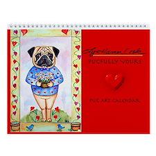 Pug Pugfully Yours, Dog Wall Calendar