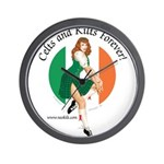 Irish Pin Up Girl Wall Clock