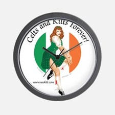 Irish Pin Up Girl Wall Clock