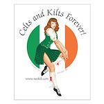 Irish Pin Up Girl Small Poster