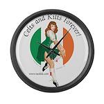 Irish Pin Up Girl Large Wall Clock