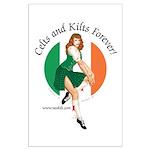 Irish Pin Up Girl Large Poster