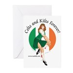 Irish Pin Up Girl Greeting Cards (Pk of 10)