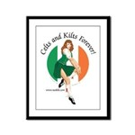 Irish Pin Up Girl Framed Panel Print